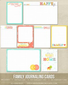 Image of Family Journaling Cards (Digital)