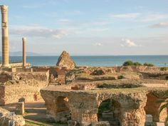 Situated along the Gulf of Tunis in Tunisia, Carthage was first established in the 9th century B.C. It was home to a successful trading empire and civilization until it was destroyed by the Romans in 146 B.C. At that point, a new Carthage was built on the ruins of the original.