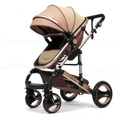 Baby stroller 3 in 1 High landscape baby cart with Four two-way shock absorber