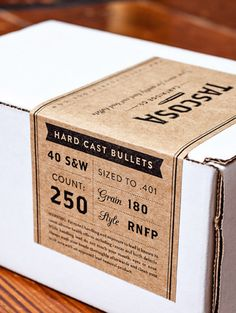 Bullet box. Good idea for have chocolate info on. Count: 60/70/80% cacao & maybe info about chocolate maker.