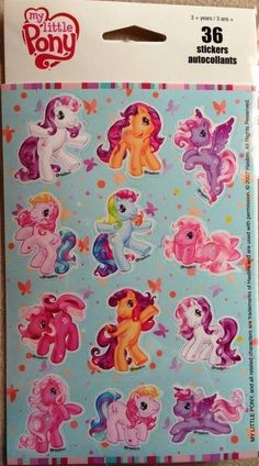 My Little Pony ~ 36 Stickers My LIttle Pony Kid Squad Stickers Colorful Stickers Playtime Fun ! Hasbro My Little Pony, Vintage My Little Pony, Craft Stickers, Printable Stickers, My Little Pony Stickers, Candy Room, Monster High Characters, Sticker Bomb, Cute Art