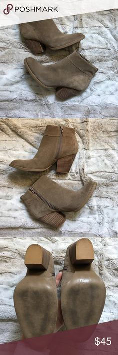 [Steve Madden] Suede Booties Worn once. A small scuff, seen in first photo. Will likely go away after these are treated. Leather. Steve Madden Shoes Ankle Boots & Booties