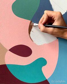 Canvas Painting Tutorials, Diy Canvas Art, Painting Videos, Tableau Pop Art, Art Painting Gallery, Abstract Acrylic Paintings, Abstract Art, Art Drawings Sketches Simple, Art Lessons