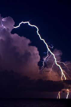 One of the widest lightning bolts I've ever seen in photographs!