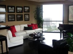 Living Room with Baby Grand Piano and Leather Club Chairs