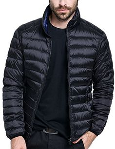 SALE PRICE - $45.99 - Men's Lightweight Practical Packable Down Jacket, Reversible Outwear Ultra Light Down Coats