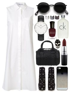 Untitled #697 by clary94 on Polyvore featuring polyvore, T By Alexander Wang, Yves Saint Laurent, Alexander Wang, Daniel Wellington, Acne Studios, BlissfulCASE, Alexander McQueen, MAC Cosmetics, Calvin Klein, Deborah Lippmann, Luv Aj, fashion, style and clothing