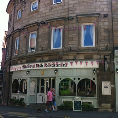 Where we had fish and chips in Whitby England.