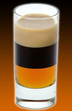 B-54 shooter is a version of the classic shooter with amaretto instead of Grand Marnier liqueur.