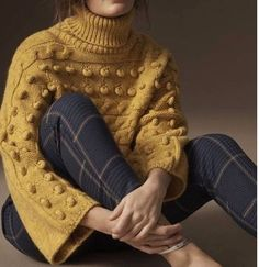 70fbabde Winter ❄ Elegante Y Chic, Pulls, Yellow Sweater, Mustard Sweater, Pretty  Outfits