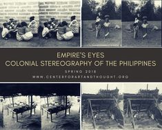 """This Pinterest board will showcase images from """"Empire's Eyes: Colonial Stereography of the Philippines."""" New images and criticism are launched every Tues and Thurs until April 2018  Stereographic images used Courtesy of the California Museum of Photography.  #empire #race #representation #brownlivesmatter #pinoy, #pinay, #filipinoamerican, #filipinoamericanhistory, #filipinohistory, #filipino #filipina #usempire, #colonialphotography, #historyofphotography, #stereography, #historylover…"""