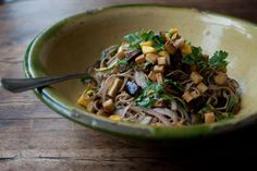 Otto Lenghi Soba Noodles with Aubergine and Mango Recipe / This one is truly amazing!