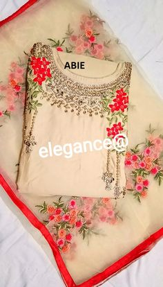 Designer Party Wear Dresses, Indian Designer Outfits, Indian Outfits, Churidar Neck Designs, Kurta Designs Women, Embroidery Suits Design, Embroidery Fashion, Punjabi Suits Designer Boutique, Salwar Suits Party Wear
