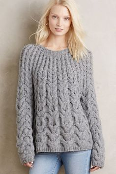 Waved Cables Pullover