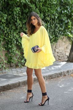 All About Fashion Trend Summer Skirts, Casual Summer Dresses, Nice Dresses, Short Dresses, Trendy Taste, Looks Party, Bikini Fitness, Yellow Dress, Classy Outfits
