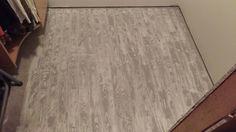 Faux wood painted floor.