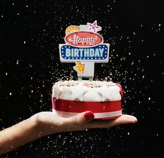 Create sensational birthday cakes with a retro Las Vegas neon sign perched on top. Spectacular design from SUCK UK