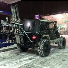 Hit the slopes with Jeep. How my jeeps gonna look someday.