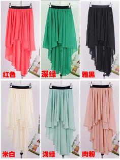 High Low Asymmetrical Long skirt pink $8