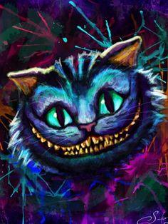 alice im wunderland zeichnungen katze - Со Старым Новым Годом Cheshire Cat Art, Cheshire Cat Alice In Wonderland, Chesire Cat, Diamond Drawing, 5d Diamond Painting, Diamond Art, Tim Burton, Black Cat Painting, Lewis Carroll