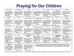 Prayer calendar-praying for a different virtue for your children every day of the month. - I make it a point to pray scripture over my children at night. With this list I want to show my children what I am praying for. Praying For Your Children, Prayers For Children, Pray For Us, Quotes For Children, Future Children, Power Of Prayer, My Prayer, Daily Prayer, Husband Prayer