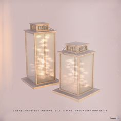 Frosted Lanterns October 2018 Group Gift by [keke] - Second Life Freebies Mods Sims 4, Sims 4 Game Mods, Sims Games, The Sims 4 Pc, Sims Four, Sims Cc, Maxis, Furniture Legs, Barbie Furniture