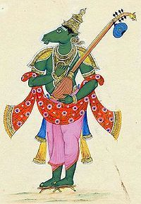 Tumbara-Tumbara (तुम्बर) is the best among Gandharvas or celestial musician and is sometimes described as the best of singers. He is described to perform in the courts of gods Kubera and Indra as well as sing praises of god Vishnu. He leads the Gandharvas in their singing.