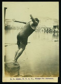 E.H. Adams, New York Athletic Club, Plunge for Distance (Swimming and Diving event at the 1904 Olympics).
