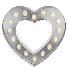 Lit Heart Sign