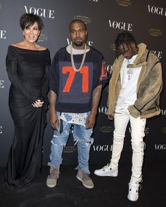 Kanye West in a Dries Van Noten Tee, Fear Of God Jeans and Yeezy Boost Kanye West Outfits, Yeezy Boost 750, Vogue, Tees, Instagram Posts, Fictional Characters, Van, Kanye West Clothing, T Shirts
