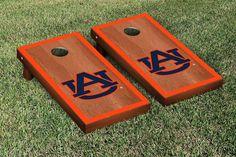 Auburn Tigers Rosewood Cornhole Bag Toss Set