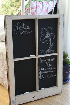 Chalkboard window. http://knockoffdecor.com/chalkboard-window/?utm_source=feedburner_medium=feed_campaign=Feed%3A+KnockOffDecor+%28Knock+Off+Decor%29