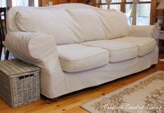 Carolina Country Living: Drop Cloth Sofa Slipcover
