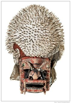 Funerary mask from Papua New Guinea, purchased 1887. Australian museum