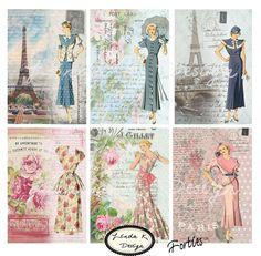 Forties...Digital Scrapbooking-Collage Sheet-Digital Card-Digital Image