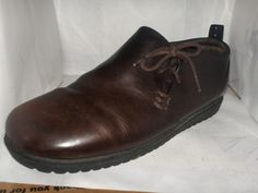 HUSH PUPPIES MENS BROWN LEATHER LOAFERS SIZE 9.5 M #HushPuppies #LoafersSlipOns
