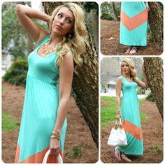 #maxidress #chevron #bubblenecklace #springstyle