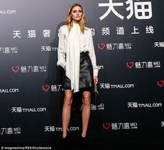 Pretty lady: The 30-year-old reality TV star chose smokey eye make up, and a subtle plum l...