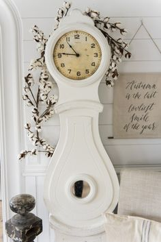 Mora clock makeover - See where to get a clock like this & the before and after. Great for farmhouse style & cottage style decor. Shelf Makeover, Chair Makeover, Lime Paint, Farmhouse Decor, Farmhouse Style, Farmhouse Ideas, Farmhouse Design, Painted Cupboards, Clock For Kids
