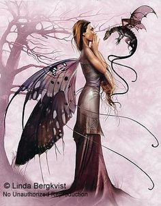 Fairy and Dragon by Linda Begkvist