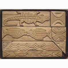 Oshiwa Carved Wood Printing Stamp Set Tribal Designs by Oshiwa, $112.00
