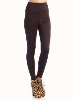 high-waisted leggings. in black