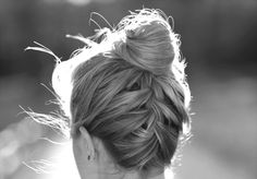 Braid with top knot.