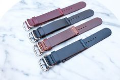 BUNDLE of 2 / Horween Leather Watch Strap in 18mm/20mm/22mm/24mm