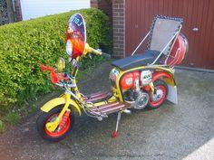 Early seventies customized Lambretta