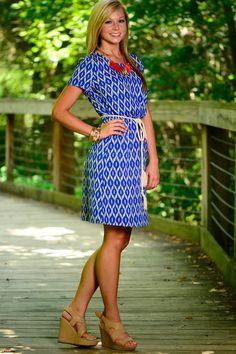 Eye Catching Dress, Blue - The Mint Julep Boutique