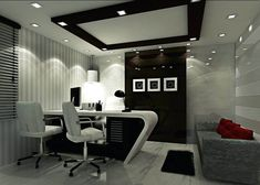Explore The Most Lawyer Office Interior Design Ideas at The Architecture Design. visit for more images and take ideas about law office interior design. Office Ceiling Design, Office Cabin Design, Cabin Interior Design, Small Office Design, Clinic Interior Design, Office Furniture Design, Interior Work, Room Interior, Cabin Office