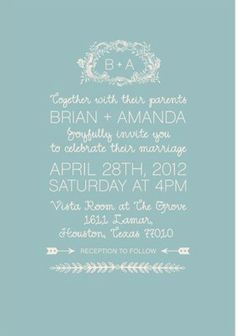 Illustrative invitation style