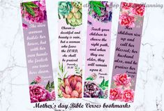 Excited to share the latest addition to my #etsy shop: Mother's day bible verses bookmarks christian mother day bible christian bookmark bible journaling mom bible verse cards mothers day verse http://etsy.me/2FmE3sG #biblebookmark #biblejournalingprintable