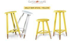 Buy Durable Sally #Bar #Stool Yellow Online...  visit at: https://www.curtisandhayes.com/sally-bar-stool-yellow.html